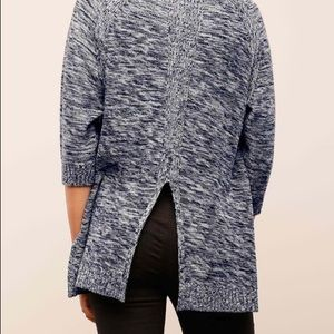 Lumiere Marled Split Back Sweater